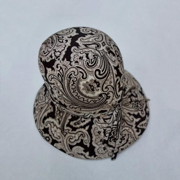 52ec16da Vintage Accessories | 60s Handtailored Gatsby Hat Silk Paisley ...